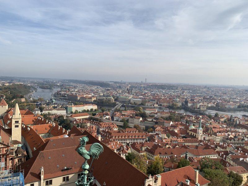 聖ヴィート大聖堂南塔からの景色
