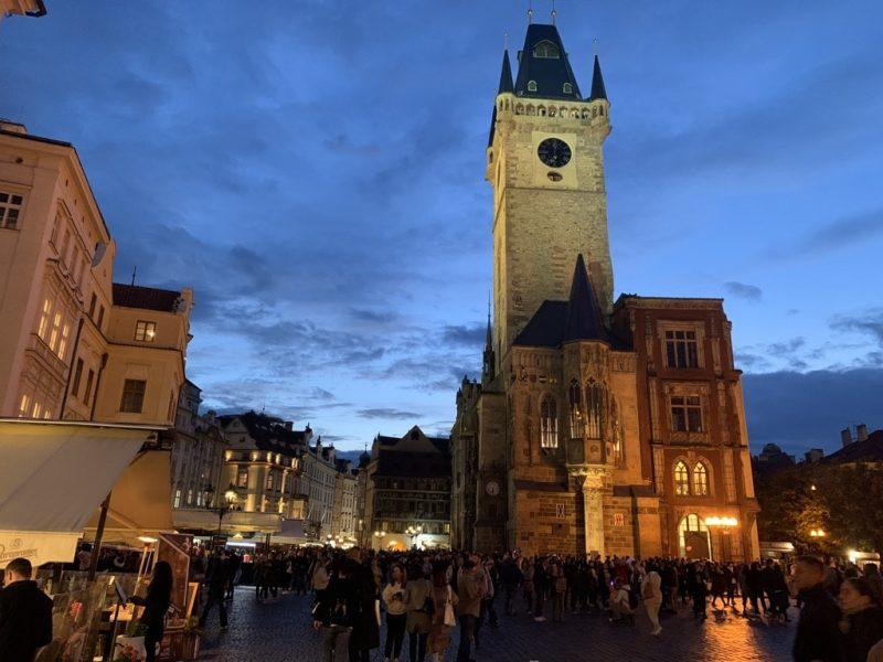 プラハ旧市庁舎 ライトアップ