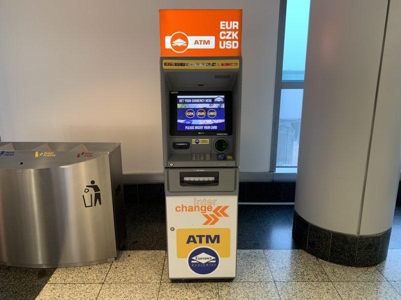 プラハ空港ATM
